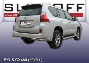 LEXUS GX-460 (2010) -Уголки d76+d42 двойные